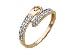 Золотые кольца с белыми фианитами 131806