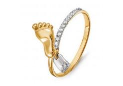 Золотое кольцо с фианитом