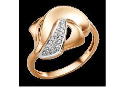 Золотые кольца с белыми фианитами 132636