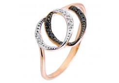 Женские золотые кольца с цветными фианитами 94152