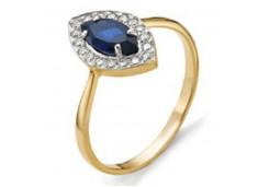Женские золотые кольца с цветными фианитами 97829