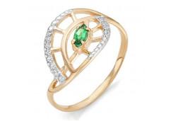 Женские золотые кольца с цветными фианитами 102603