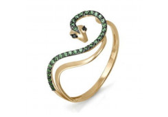 Женские золотые кольца с цветными фианитами 100398