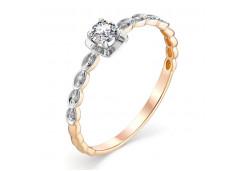Золотые кольца с белыми фианитами 131659
