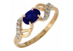 Женские золотые кольца с цветными фианитами 116765