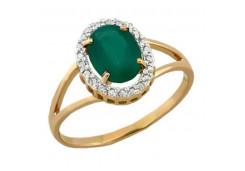 Женские золотые кольца с цветными фианитами 116766