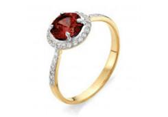 Женские золотые кольца с цветными фианитами 117401