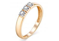 Золотые кольца с белыми фианитами 131686