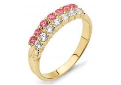 Женские золотые кольца с цветными фианитами 121392