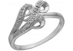 Кольцо из серебра 925 пробы с фианитом