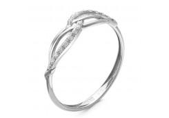 Женские кольца из серебра с белыми фианитами 101385
