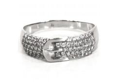 Женские кольца из серебра с белыми фианитами 85424