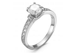 Женские кольца из серебра с белыми фианитами 131623