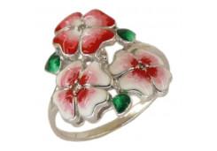 Женские кольца из серебра с белыми фианитами 131632