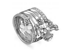 Кольца из серебра, вставка сваровски кристалл 118835