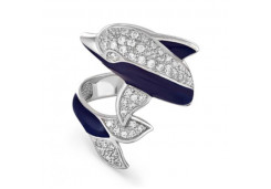 Кольца из серебра, вставка сваровски кристалл 118705