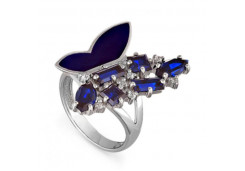 Кольца из серебра, вставка сваровски кристалл 118706