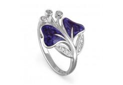 Кольца из серебра, вставка сваровски кристалл 118708