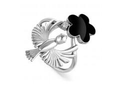 Кольца из серебра, вставка сваровски кристалл 118800