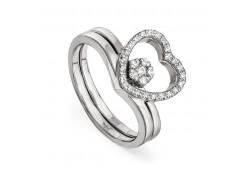 Кольца из серебра, вставка сваровски кристалл 119804