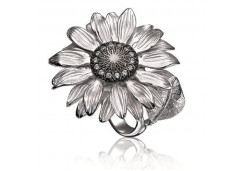 Кольца из серебра, вставка сваровски кристалл 131117