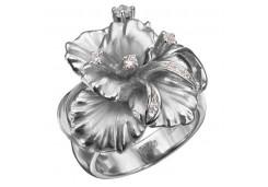 Кольца из серебра, вставка сваровски кристалл 131101