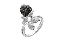 Кольца из серебра, вставка сваровски кристалл 131118