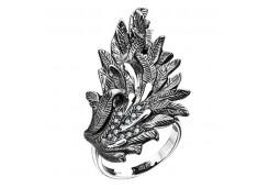 Кольца из серебра, вставка сваровски кристалл 131120