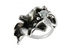 Кольца из серебра, вставка сваровски кристалл 110325