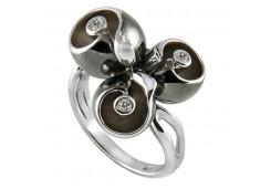 Кольца из серебра, вставка сваровски кристалл 109518