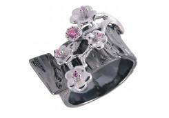 Кольца из серебра, вставка сваровски кристалл 110455