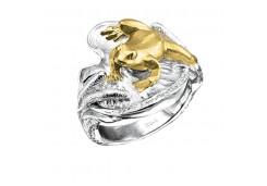Кольца из серебра, вставка сваровски кристалл 129550