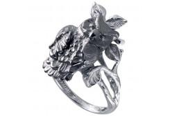Кольца из серебра, вставка сваровски кристалл 110453