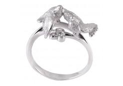 Кольца из серебра, вставка сваровски кристалл 123795