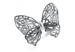 Кольца из серебра, вставка сваровски кристалл 131123