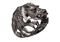 Кольца из серебра, вставка сваровски кристалл 110316
