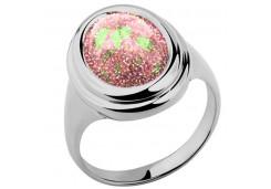 Женские кольца из серебра, вставка опал синтетический 96917