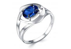 Женские кольца из серебра с цветными фианитами 129307