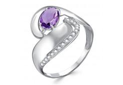 Женские кольца из серебра с цветными фианитами 129314