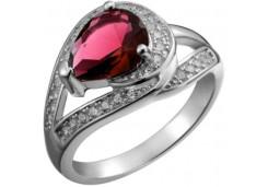 Женские кольца из серебра с цветными фианитами 129712