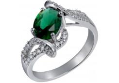 Женские кольца из серебра с цветными фианитами 39738