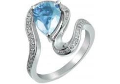 Женские кольца из серебра с цветными фианитами 129539
