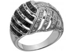 Женские кольца из серебра с цветными фианитами 129733