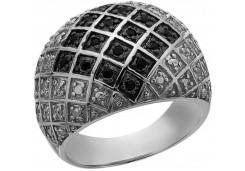 Женские кольца из серебра с цветными фианитами 129735