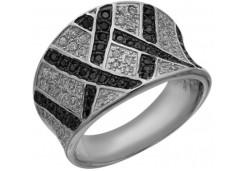 Женские кольца из серебра с цветными фианитами 129736