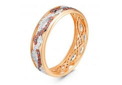 Женские кольца из серебра с цветными фианитами 130888