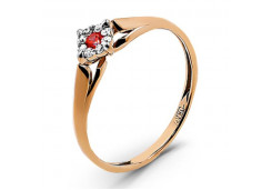 Женские кольца из серебра с цветными фианитами 130917