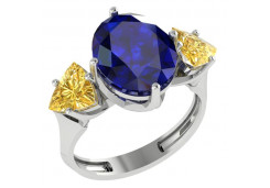 Серебряное кольцо с кристаллом