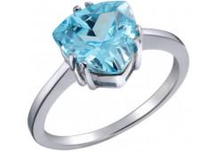 Женские кольца из серебра с цветными фианитами 39730