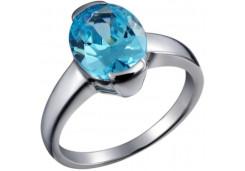 Женские кольца из серебра с цветными фианитами 39733